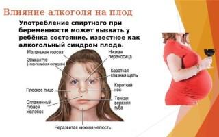 Алкоголь и беременность. Последствия, влияние алкоголя на плод