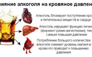Какой алкоголь понижает давление, какой повышает, зависимость от дозы и других факторов