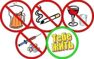 Вредные привычки – наркомания, курение, алкоголизм