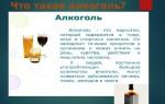 Тема: Влияние алкоголя и наркотиков на организм человека
