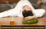 Последствия кодирования от хронического алкоголизма у мужчин