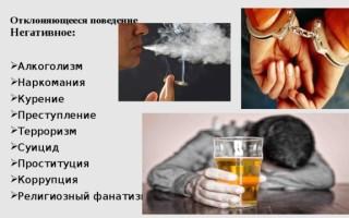 Девиантное поведение алкоголизм наркомания