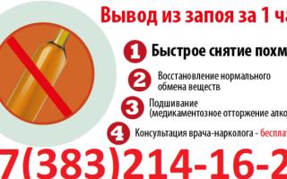 Быстрое и эффективное кодирование от алкоголизма в Новосибирске