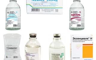 Капельница при алкогольной интоксикации – список препаратов